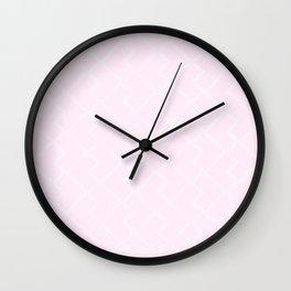 Mid Century Subway Tiles, Blush Wall Clock