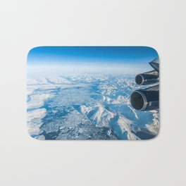 Glaciers of Greenland from 37,000ft Bath Mat