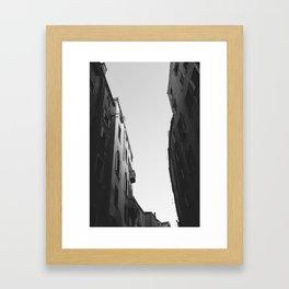 Sky Canal Framed Art Print