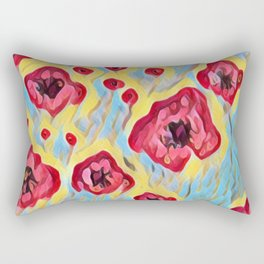 Dreamy Meadow of poppies Rectangular Pillow