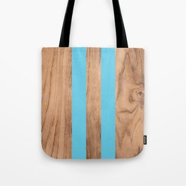 Wood Grain Stripes Light Blue #807 Tote Bag