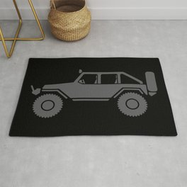 Off Road 4x4 Silhouette Rug