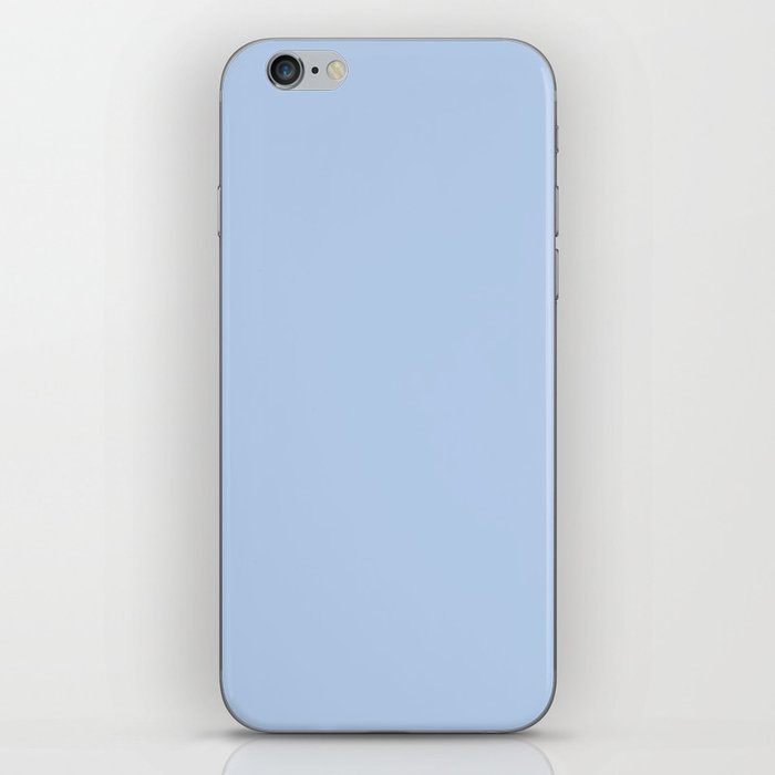 Solid Angel Blue Pastel Simple Solid Color All Over Print iPhone Skin