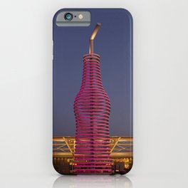 Pops Restaurant on Route 66 in Arcadia Oklahoma This sculptural take on a soda bottle and straw soar iPhone Case