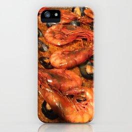 Shrimp Mussel Rice iPhone Case