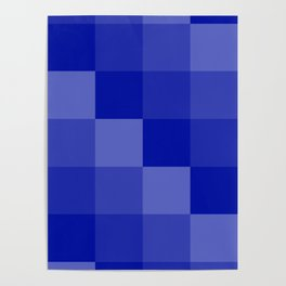Four Shades of Blue Square Poster
