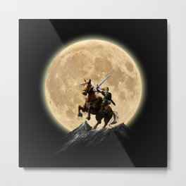 The Legend Of Zelda Full Moon Metal Print