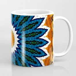 Mandala Gold and Blue Coffee Mug