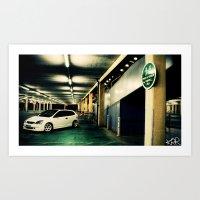 honda Art Prints featuring Honda civic by Keegan Rigby