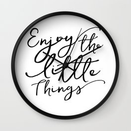Enjoy The Little Things,Motivational Quote,Hand Lettering,Today I Choose Joy,Kitchen Decor Wall Clock