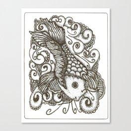 Sharpie Fish Canvas Print