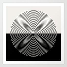 Circular Lines III Black & White Art Print