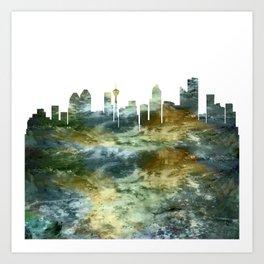 Calgary City Skyline Canada Art Print
