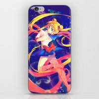 sailor moon iPhone & iPod Skins featuring Sailor Moon by Ginilla