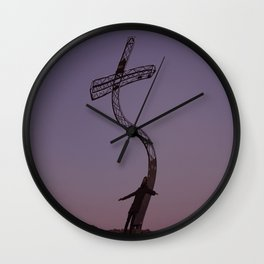 THE CRUCIFIXION of CHRIST • ART manipulation Wall Clock