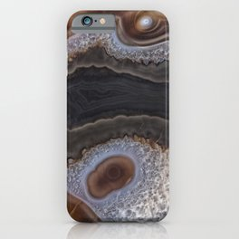 Chocolate colored Agate Crystals iPhone Case