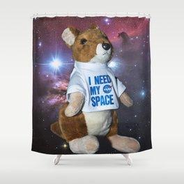 I need my space plush kangaroo Shower Curtain