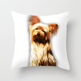 Yorkshire Puppy Tiny Dog Throw Pillow