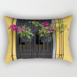 Window at Old Antigua, Guatemala Rectangular Pillow