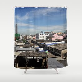 Communities in the capital of Thailand. Shower Curtain