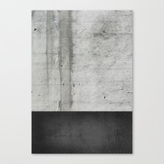 Raw Concrete and Black Leather Canvas Print