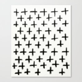 Painted Cross Pattern Canvas Print