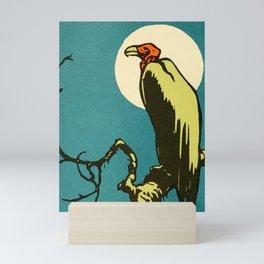 Vintage Animal Illustration of a Vulture Mini Art Print