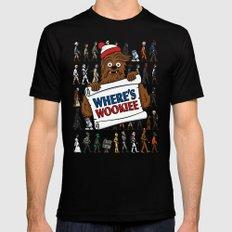 Where's Wookiee Mens Fitted Tee MEDIUM Black