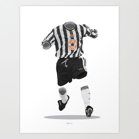 Newcastle United 1997-1998-1999 Art Print