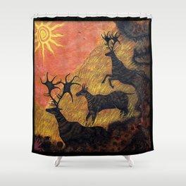 The Ancient Cervine Shower Curtain