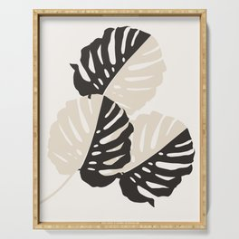 Monstera Delicious #1 #minimal #tropical #decor #art #society6 Serving Tray