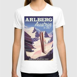 Arlberg Austria ski travel poster T-shirt