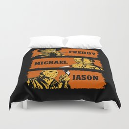 Freddy, Michael and Jason Duvet Cover