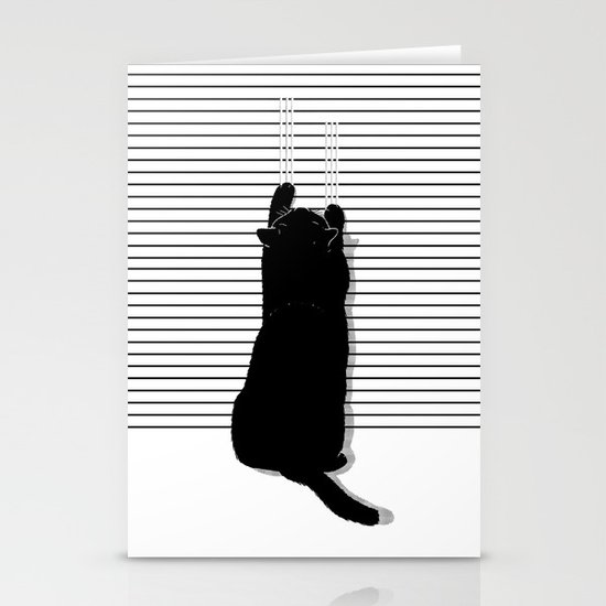 Cat Scratch Stationery Cards