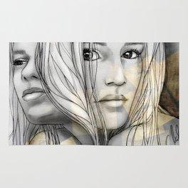 """Reflection I"" by carographic Rug"