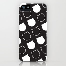 Polka Cat - Reverse iPhone Case