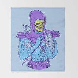 Masters of the Meowniverse Throw Blanket