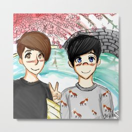 Dan and Phil Japan Metal Print