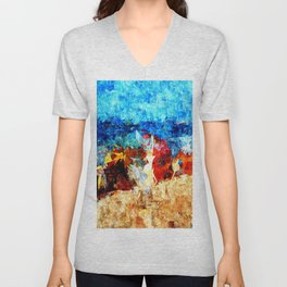 Camping am Meer Unisex V-Neck
