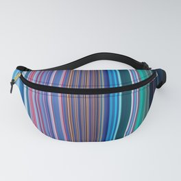 Abstract Vertical Modern mixed stripes v1 Fanny Pack