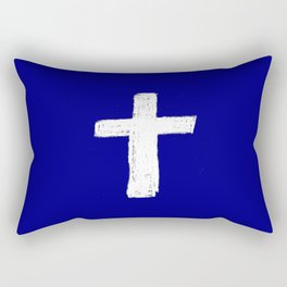 Christian Cross Chalk version Rectangular Pillow