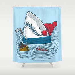 Great White North Shark Shower Curtain