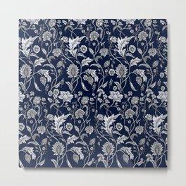 Blue Floral - 5 Metal Print