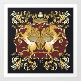 Royal Horses Bordeaux  Art Print