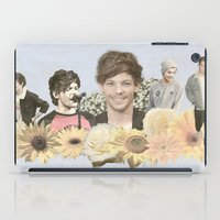 louis tomlinson iPad Cases featuring Louis Tomlinson + Flowers  by Ladsandstuff