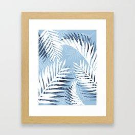 Tropical bliss - chambray blue Framed Art Print