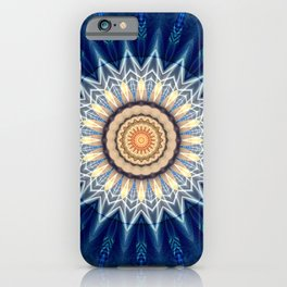 Mandala blue created by Tutti iPhone Case