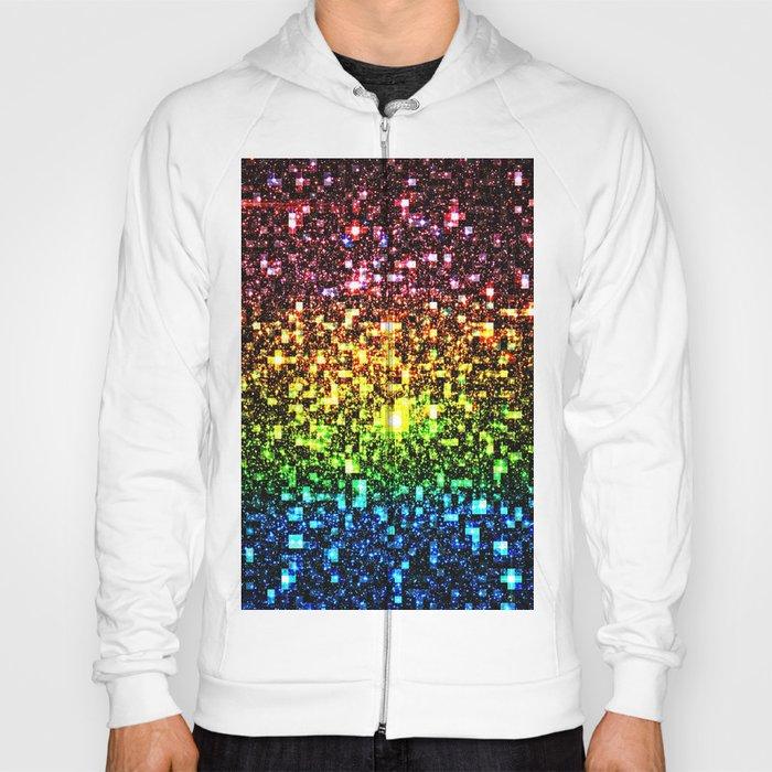 Geometric Galaxy Stars : Rainbow Hoody
