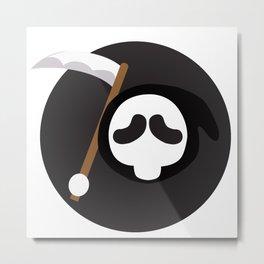 Reaper Head Metal Print