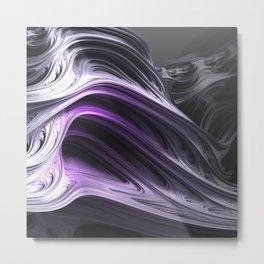 Amethyst Waves Metal Print